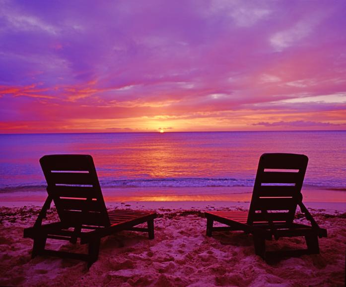 beachchairsunset